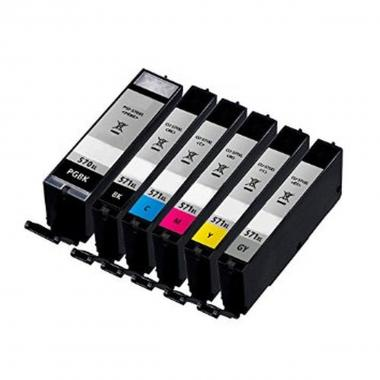 10.8ML With  chip Canon MG5700,MG6800,MG7700#CLI-571gyXL